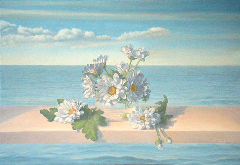 Daisies by the beach, 2007 | oil on canvas, 14.8 x 21.5 in.